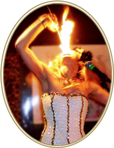 Photo of woman eating fire