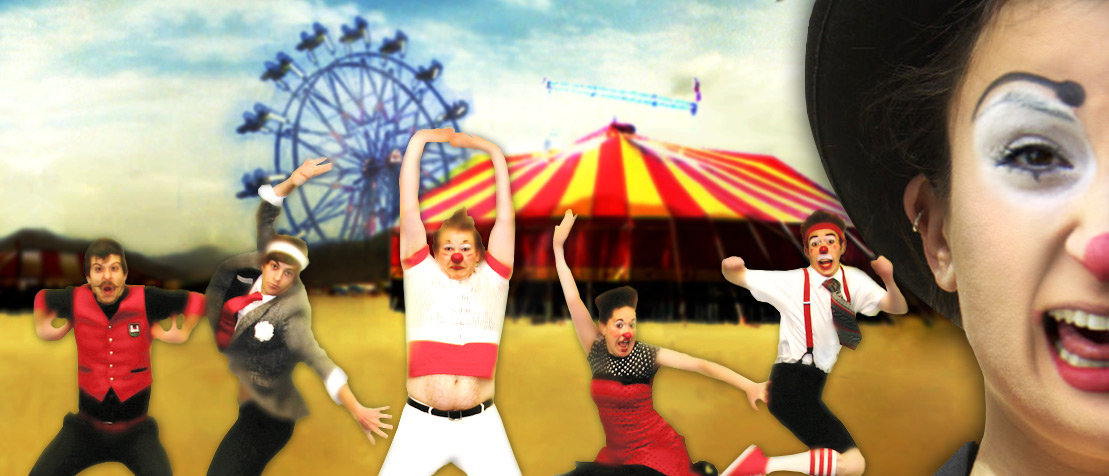 Photo of people celebrating outside of Circus Tent